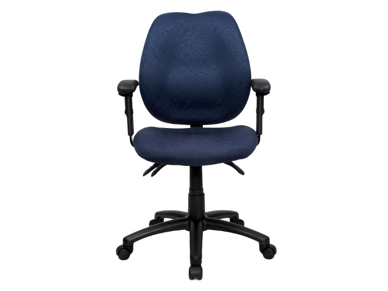 Sabina Fabric Office Chair with Arms, Blue