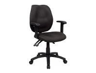 LivingStyles Sabina Fabric Adjustable Office Armchair, Black