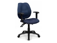 LivingStyles Sabina Fabric Adjustable Office Armchair, Blue