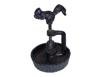 LivingStyles Cast Iron Squirrel Screw Nut Cracker, Antique Rust
