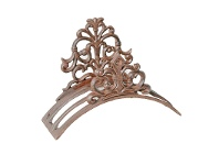 LivingStyles Cast Iron Fleur De Lis Garden Hose Holder, Antique Rust