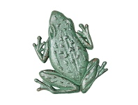 LivingStyles Frog Cast Iron Stepping Frog - Verdigris