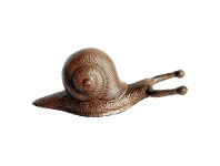 LivingStyles Snail Cast Iron Boot Jack - Antique Rust