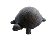 LivingStyles Turtle Small Cast Iron Key Hider - Antique Rust