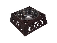 LivingStyles Curra Cast Iron Pet Bowl, Small, Antique Rust