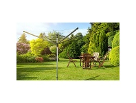 LivingStyles Brabantia Lift-O-Matic Rotary Clothes Line Dryer, 4 Arm / 60m