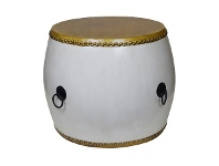 LivingStyles Empire Drum Table, White