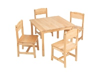 LivingStyles KidKraft Farmhouse 5 Piece Kids Table & Chair Set, Natural