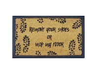 LivingStyles Remove Shoes Or Mop Floor Coir & Rubber Doormat, 70x40cm