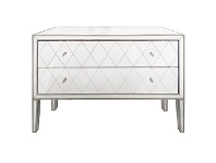 LivingStyles Krystal Mirrored 2 Drawer Chest