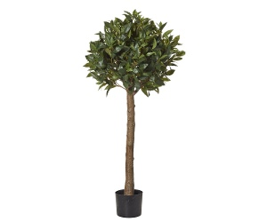Potted Artificial Sweet Bay Tall Ball Topiary, 125cm