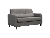LivingStyles Oslo Fabric Pull Out Sofa Bed, Licorice