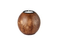 LivingStyles Ripley Solid Timber Ball Tealight Holder, Small