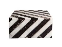 LivingStyles Hillcrest Marble Storage Box, Square