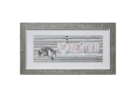 LivingStyles Nap on Bench Series Framed Wall Art, Type A, 43cm