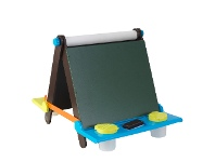 LivingStyles KidKraft Tabletop Easel, Espresso with Brights