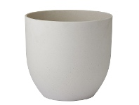 LivingStyles Zoe Sandstone Planter, Large, Cream