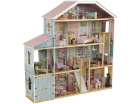 LivingStyles KidKraft Grand View Mansion Dollhouse with EZ Kraft Assembly