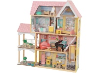 LivingStyles KidKraft Lola Mansion Dollhouse with EZ Kraft Assembly