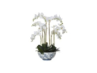 Aaliyah Bowl Potted Deluxe Artificial Phalaenopsis, Large