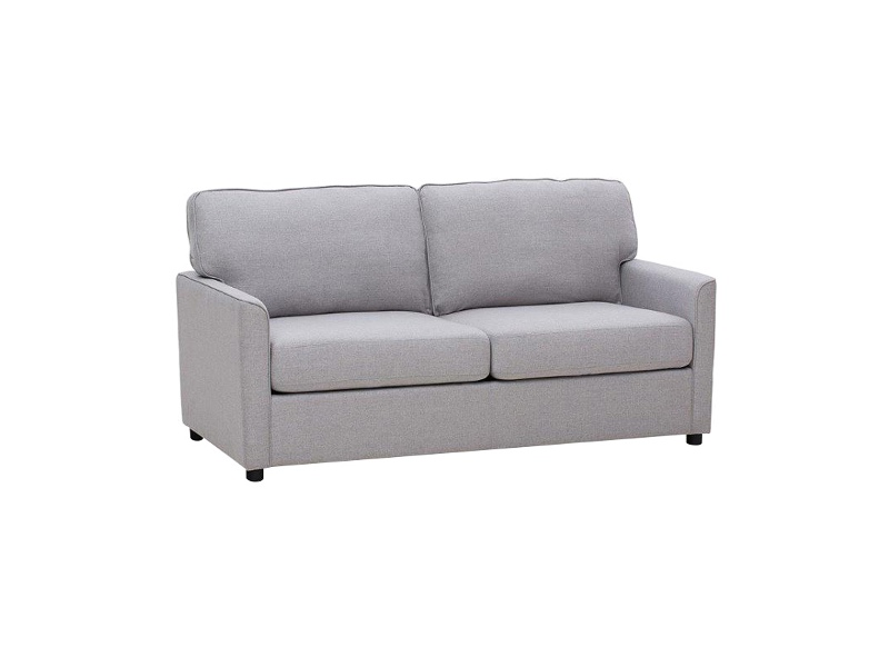 Eada Linen Fabric Inner Spring Pull Out Sofa Bed, Grey