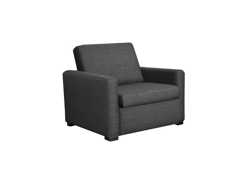 Earvin Linen Fabric Pull Out Sofa Bed, Single, Charcoal