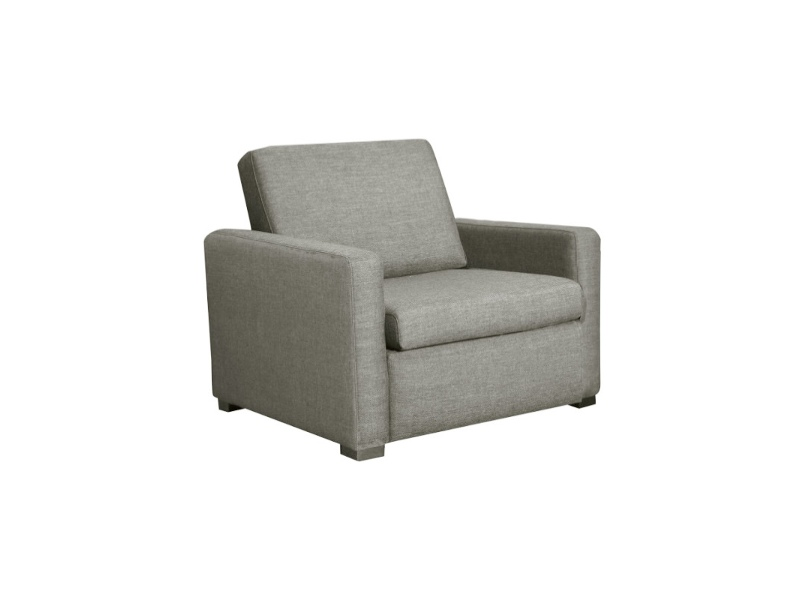 Earvin Linen Fabric Pull Out Sofa Bed, Single, Taupe