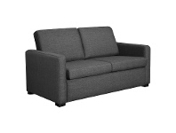 LivingStyles Earvin Linen Fabric Pull Out Sofa Bed, Double, Charcoal