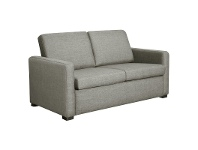 LivingStyles Earvin Linen Fabric Pull Out Sofa Bed, Double, Taupe