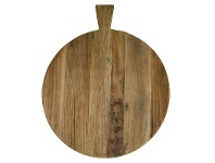 LivingStyles Holman Recycled Elm Timber Breadboard, Round