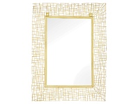 LivingStyles Society Metal Frame Wall Mirror, 80cm