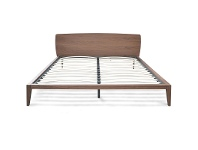 Asger Wooden Flatform Bed, Queen, Walnut