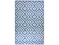 Botticelli Point Modern Rug, 170x117cm, Blue