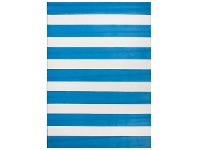 LivingStyles Botticelli Fat Stripes Modern Rug, 235x165cm, Blue