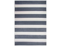 LivingStyles Botticelli Fat Stripes Modern Rug, 235x165cm, Grey