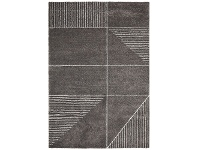 LivingStyles Broadway Lines Modern Rug, 240x340cm, Charcoal