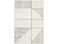 LivingStyles Broadway Lines Modern Rug, 240x340cm, Ivory