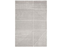 LivingStyles Broadway Lines Modern Rug, 160x230cm, Silver