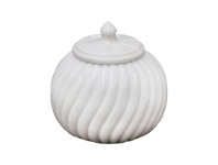 LivingStyles Sutton Marble Canister, Medium