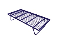 LivingStyles Tubeco Australian Made Commercial Grade Metal Pop-up Trundle Bed, Single, Space Blue