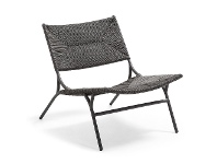 LivingStyles Fairfax Synthetic Water Hyacinth & Steel Lounge Chair