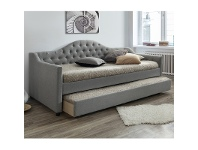 LivingStyles Vector Fabric Day Bed with Trundle, Single, Grey
