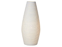 LivingStyles Zadie Hand Made Porcelain Table Lamp, Tapered