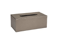LivingStyles Lula Faux Leather Tissue Box, Bronze