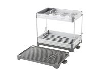 LivingStyles Remo Metal Collapsible 2 Tier Dish Rack