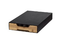 LivingStyles Davis & Waddell Essence Bamboo Coffee Board with Pod Drawer