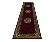 LivingStyles Shiraz Margaret Oriental Runner Rug, 80x300cm, Red