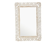 LivingStyles Althea Carved Mango Wood Framed Wall Mirror, 99cm