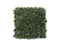 LivingStyles Artificial Red Day Leaf Hedge, 75cm