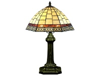 LivingStyles Valley Tiffany Stained Glass Table Lamp, Small